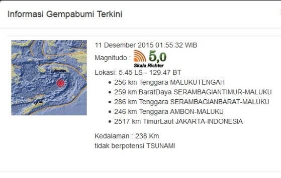 Image Result For Gempa Ambon Hari Ini